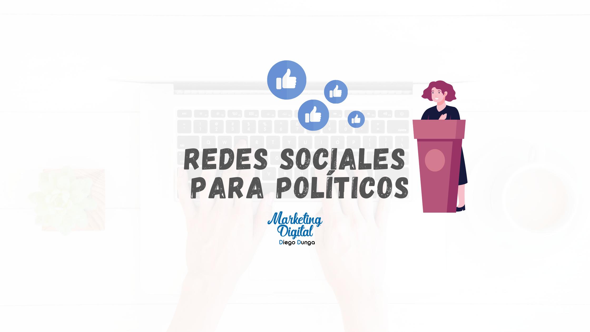 redes sociales para politicos